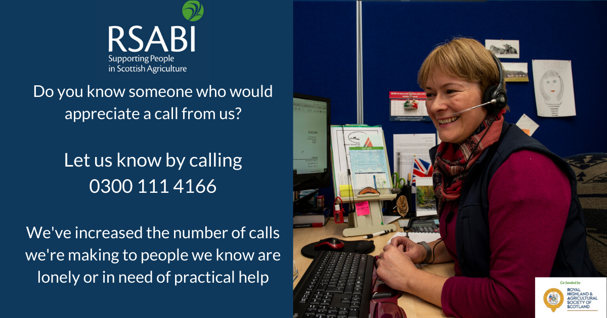 Image of helpline member of staff on a call