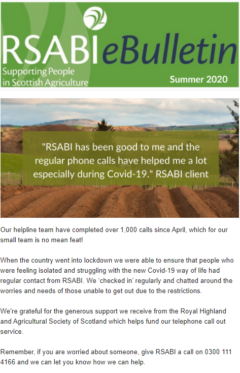 RSABI Summer eBulletin 2020